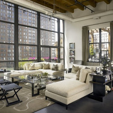 Industrial Living Room by jamesthomas, LLC