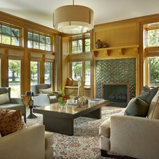 Eclectic Living Room by jamesthomas, LLC