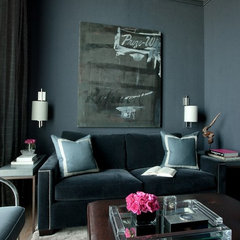 contemporary media room by jamesthomas, LLC