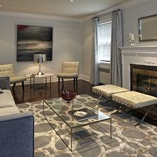 Contemporary Living Room by Jan Albert Design