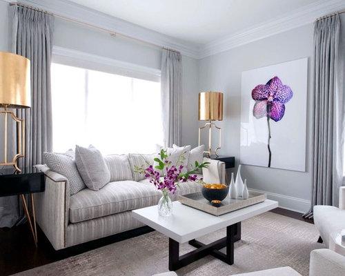 gray toile drape living room design ideas remodels photos houzz