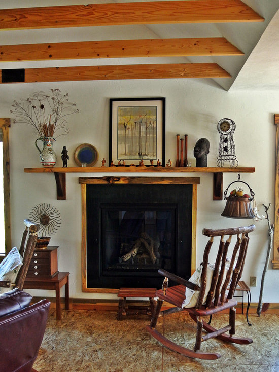 eclectic living room design ideas, remodels & photos with plywood