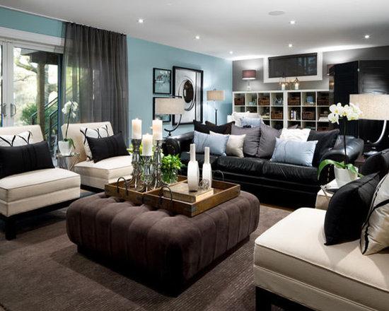 basement living room | houzz