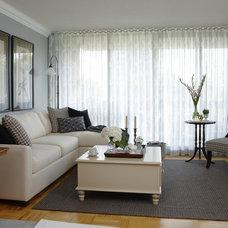 Contemporary Living Room by Jane Lockhart Interior Design
