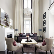 Transitional Living Room by Jane Lockhart Interior Design