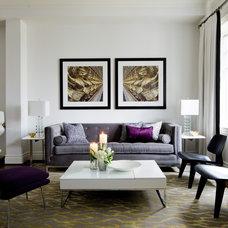 Transitional Living Room by Jane Lockhart Interior Design