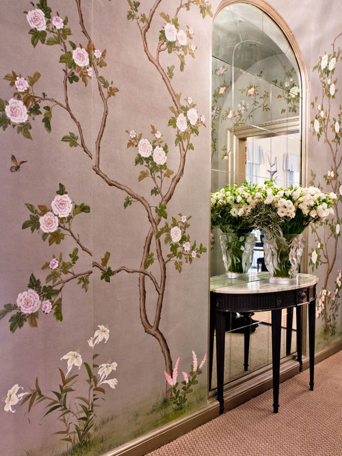 Houzz Hand Painted Wallpaper Design Ideas Remodel Pictures