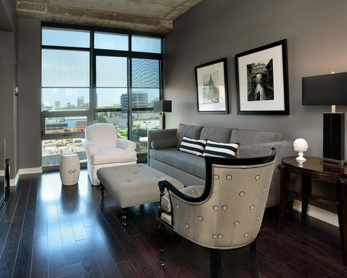 Save Photo - Dark Floor Gray Wall Houzz
