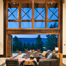 Rustic Living Room by LaCantina Doors