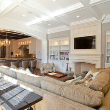 Traditional Living Room by Heritage Luxury Builders