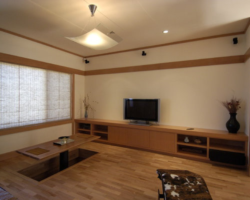 Zen living room photo in San Francisco Japanese Living Room  Houzz