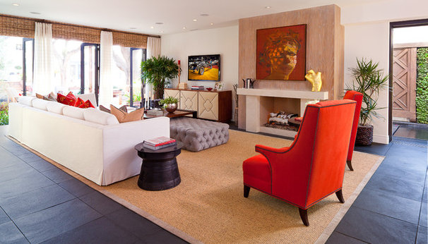 Eclectic Living Room by D for Design