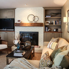 Traditional Living Room by Latitude 39 Designs, LLC