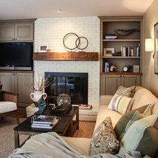 Traditional Living Room by Latitude 39 Designs, LLC