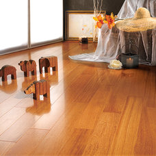 Tropical Living Room by Western Coswick Hardwood Floors