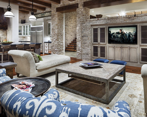 Entertainment center wall houzz for Living room entertainment ideas