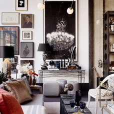 eclectic living room by Jeffers Design Group
