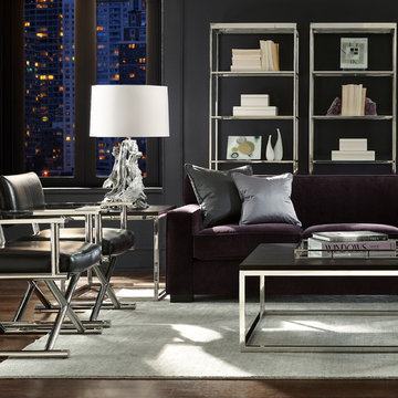 Jean Luc Sofa, Directoire Chairs & Broadway Accent Tables