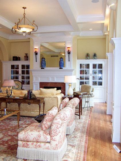 Traditional Living Room by Jeanne Blenkush Design