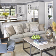 Transitional Living Room Jeff Andrews