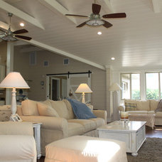 Tropical Living Room by Kevin M. Higgins, Architect. P.C.