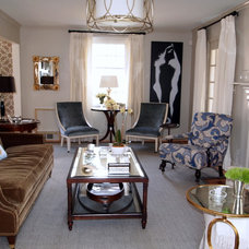 Traditional Living Room by Elizabeth Reich