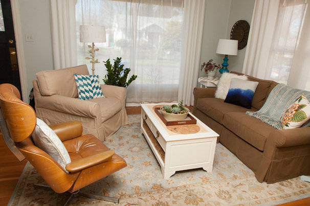 Craftsman Living Room by Whitney Lyons