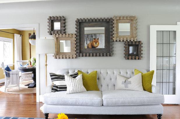 Transitional Living Room by PlaidFox