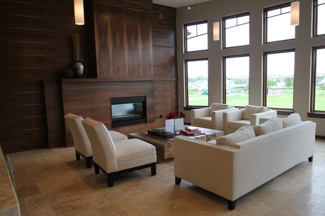 Contemporary Living Room by Jerry Bussanmas