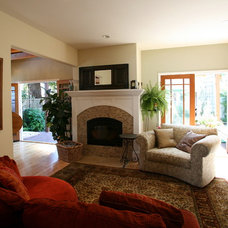 Eclectic Living Room by Jess Phillips Construction