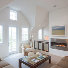 Beach Style Family Room by Chip Webster Architecture