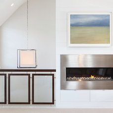 Beach Style Living Room by Chip Webster Architecture