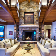 Eclectic Living Room by Charles Cunniffe Architects Aspen