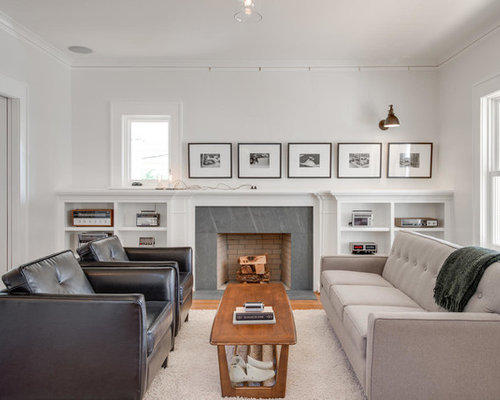 Craftsman living room design ideas remodels photos houzz for Craftsman living room ideas