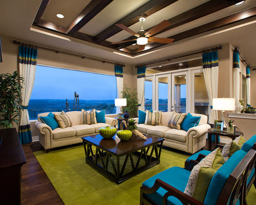 Turquoise And Lime Green Living Room | Houzz