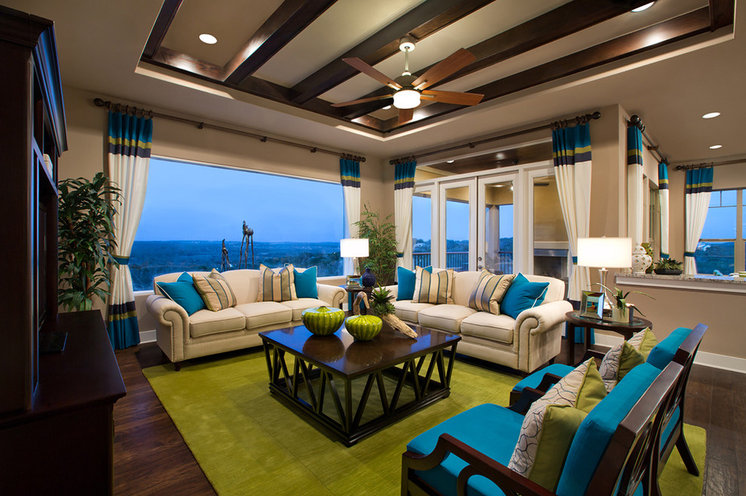 Traditional Living Room by Mary DeWalt Design Group