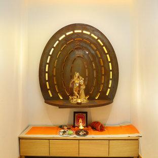 Tropisches Wohnzimmer in Delhi