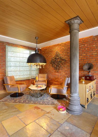 Contemporary Family Room by Group DCA