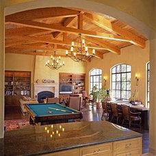 Mediterranean Living Room by JMA (Jim Murphy and Associates)