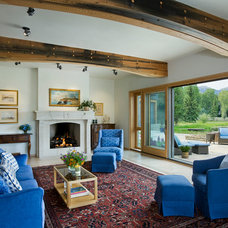 Rustic Living Room by Carney Logan Burke Architects