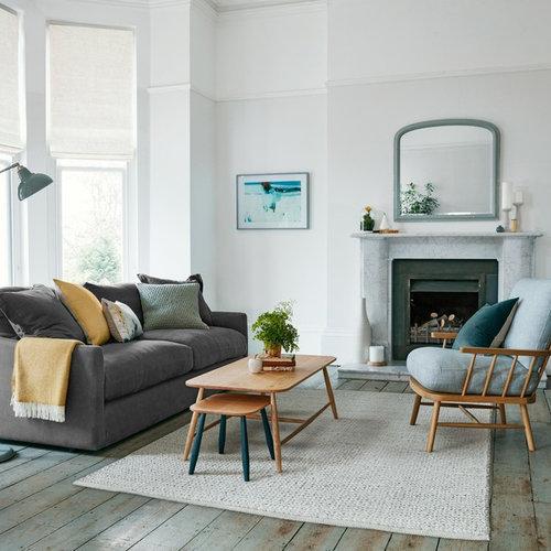 Transitional Living Room Idea In London