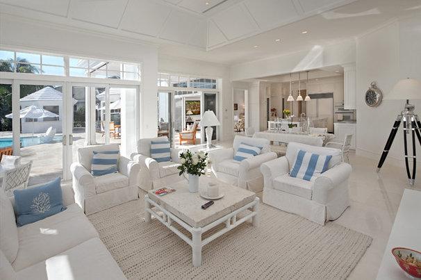Tropical Living Room by John McDonald Company