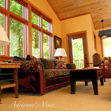 Eclectic Living Room by john thompson designer