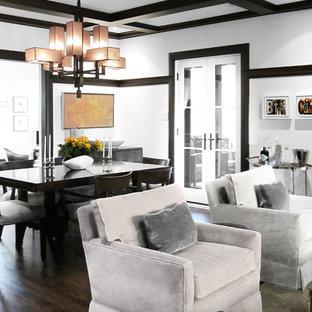 Dark Floor And Light Walls Living Room