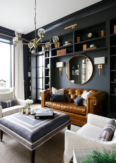 Transitional Living Room by Vernich Interiors