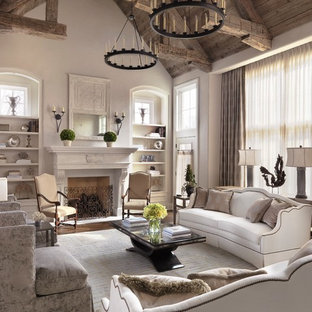Living room - traditional formal living room idea in St Louis with a standard fireplace