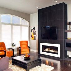 Contemporary Living Room by Claxton Fireplace Center, Inc.