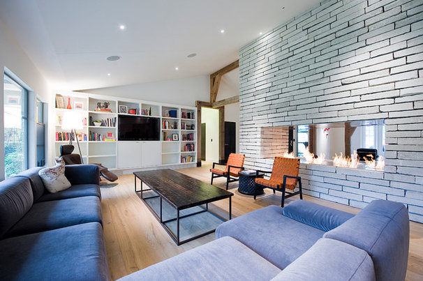 Contemporary Living Room by CRFORMA