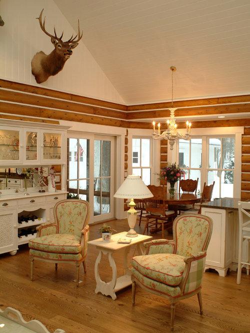 Shabby Chic Style Open Plan Living Room Design Ideas