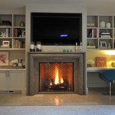 Contemporary Living Room Jr. League San Mateo House